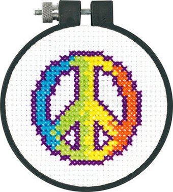 Rainbow Peace Symbol - Beginner Counted Cross Stitch Kit