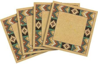 Aztec Wood Coasters - Cross Stitch Kit