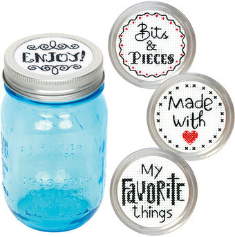 Favorite Label Jar Topper - Cross Stitch Kit