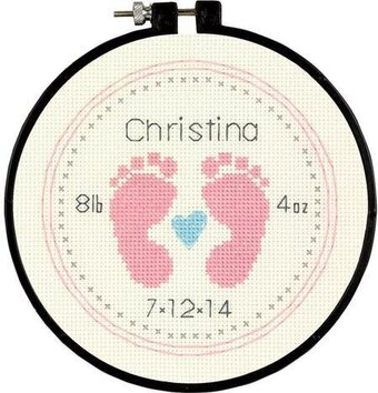 Baby Footprints Learn-A-Craft - Beginner Cross Stitch Kit