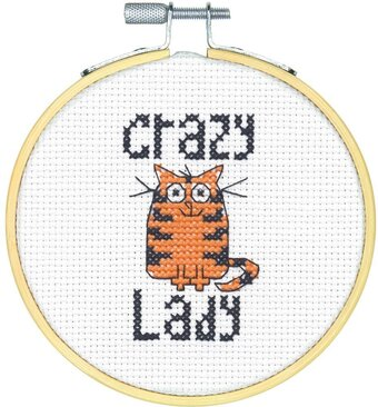Crazy Cat Lady - Cross Stitch Kit