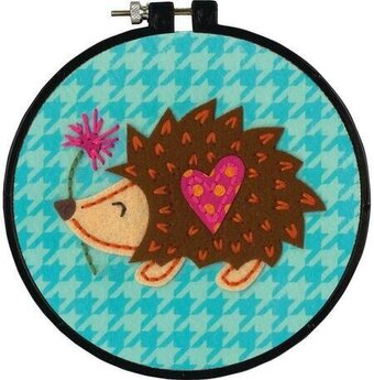 Learn-A-Craft Little Hedgehog Felt Applique Kit