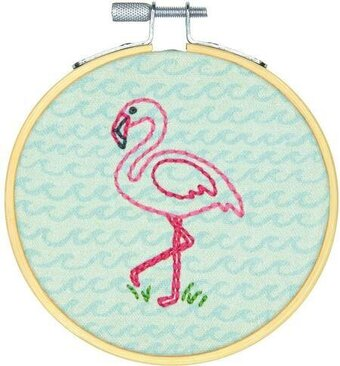 Flamingo Fun - Embroidery Kit