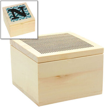 Wood Trinket Box Blank - Cross Stitch Kit
