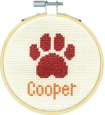 Paw Print - Cross Stitch Kit