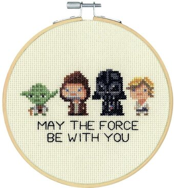 Star Wars Family Hoop - Counted Cross Stitch Kit