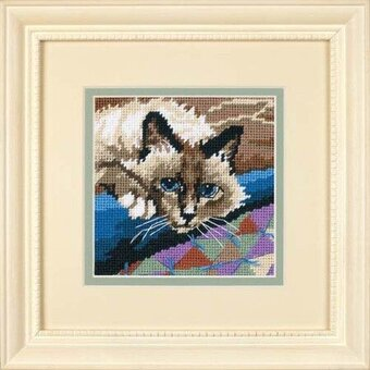 Cuddly Cat - Needlepoint Kit