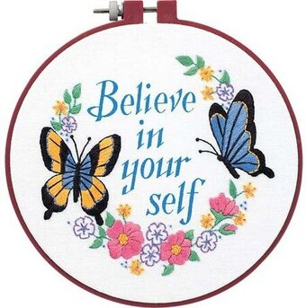 Believe in Yourself Learn-A-Craft Beginner Crewel Embroidery