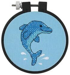 Dolphin Delight - Beginner Stamped Cross Stitch Kit