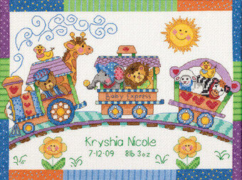 Baby Express Birth Record - Cross Stitch Kit