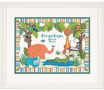 ModZoo Baby Hugs Birth Record - Cross Stitch Kit