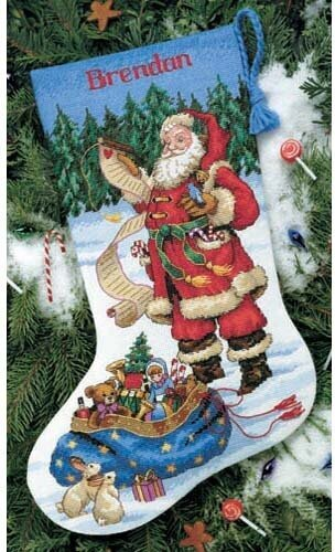Checking His List Stocking - Cross Stitch Kit