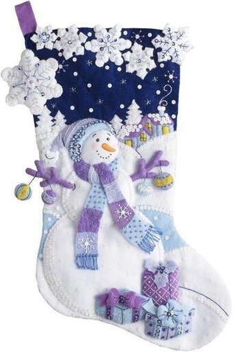 Cross Stitch Christmas Stocking Kit