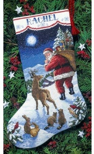 Santa's Arrival Stocking - Cross Stitch Kit