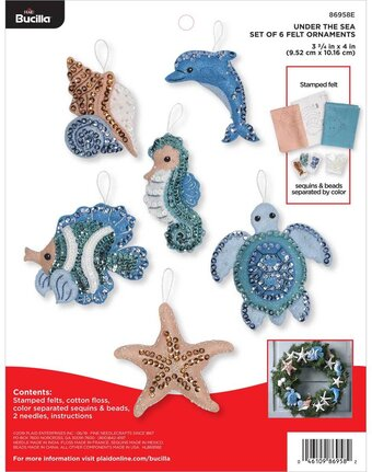 Under The Sea - Christmas Ornaments Felt Applique Kit