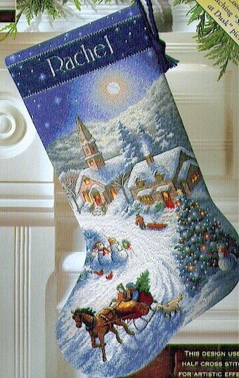 Dimensions Santa S Sidecar Stocking Cross Stitch Kit 70