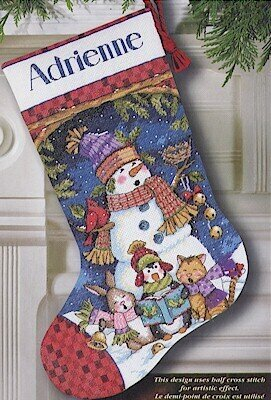 Cute Carolers Stocking - Cross Stitch Kit