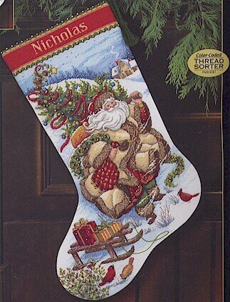 Santa's Journey Stocking - Cross Stitch Kit