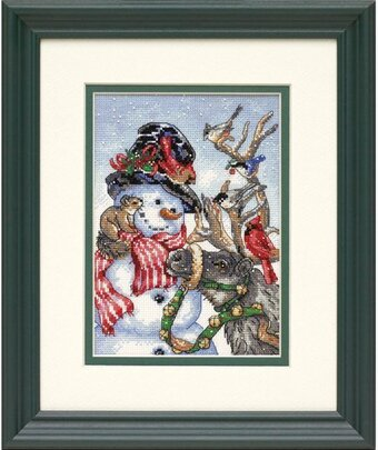 Snowman & Reindeer - Cross Stitch Kit