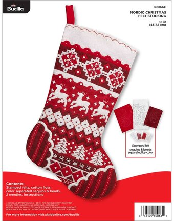 Nordic Christmas - Christmas Stocking Felt Applique Kit