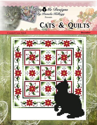Cats & Quilts - December - Cross Stitch Pattern