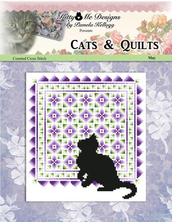 Cats & Quilts - May - Cross Stitch Pattern