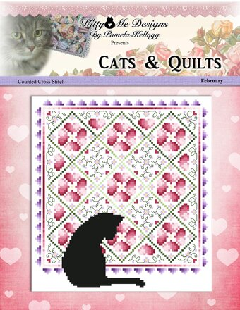 Cats & Quilts - February - Cross Stitch Pattern
