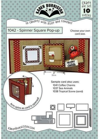 Spinner Square Pop-Up - Karen Burniston Craft Die