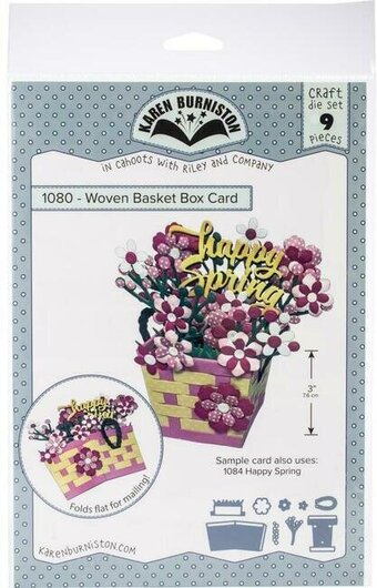 Woven Basket Box Card - Karen Burniston Craft Die