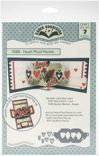 Heart Pivot Panels - Karen Burniston Craft Die