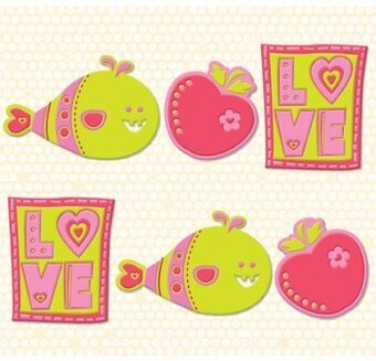 Berry Sweet Flexible Charmers for Scrapbooking