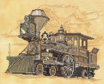 Vintage Locomotive - Cross Stitch Pattern