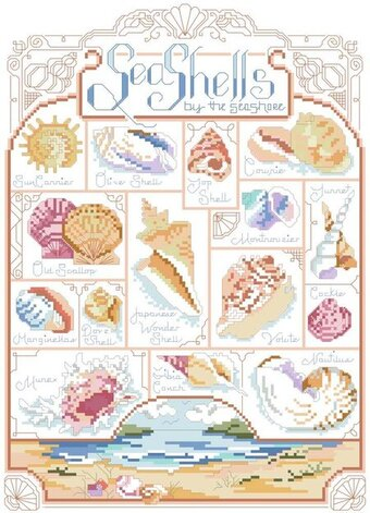 Sea Shells Sea Shore - Cross Stitch Pattern