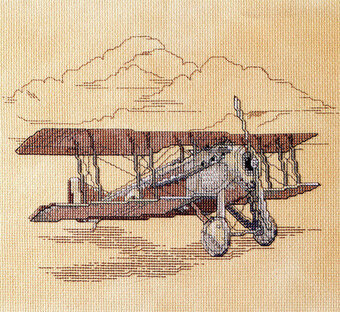 Vintage Airplane - Cross Stitch Pattern