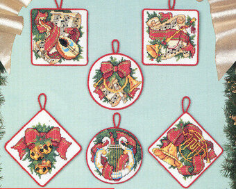 The Sounds of Christmas Ornaments - Cross Stitch Pattern