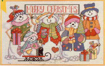 Let It Snow - Christmas Cross Stitch Pattern
