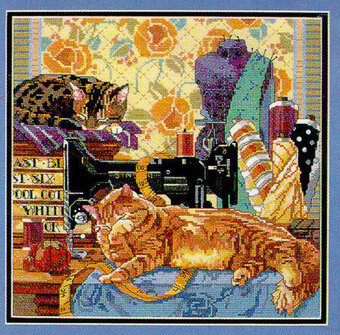 Cats in the Sewing Room - Cross Stitch Pattern