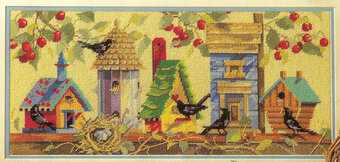 Birdhouses - Cross Stitch Pattern