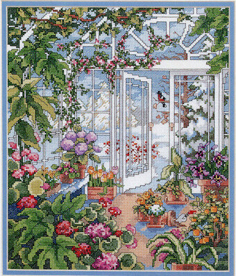 Winter Greenhouse - Cross Stitch Pattern