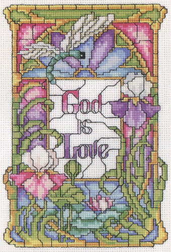 God is Love - Cross Stitch Pattern