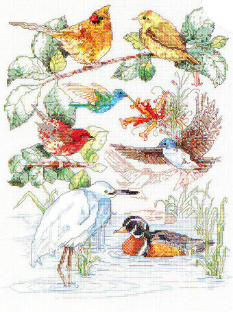 Bird Sampler - Cross Stitch Pattern