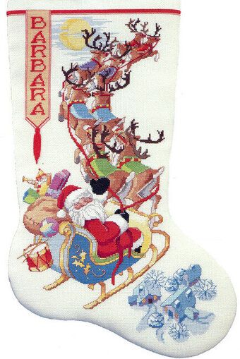 To All A Good Night Christmas Stocking Cross Stitch Pattern