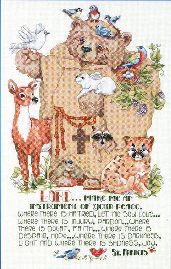 St. Francis and Friends - Cross Stitch Pattern