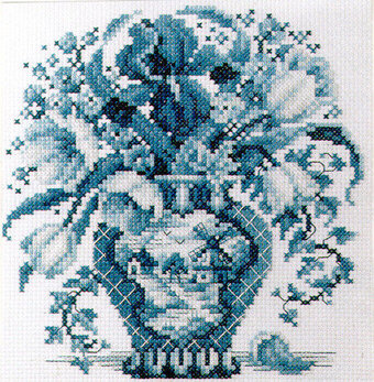 Blue Works - Cross Stitch Pattern