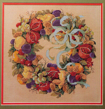 Della Robbia Wreath - Cross Stitch Pattern