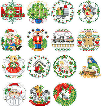 Lotsa Christmas Ornaments - Cross Stitch Pattern