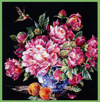Peonies - Cross Stitch Pattern