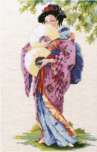 gold Japanese Garden Dimensions Counted X Stitch Cross Kit Gold