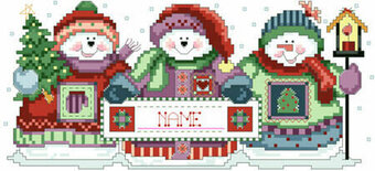 Festive Snowmen - Christmas Cross Stitch Pattern
