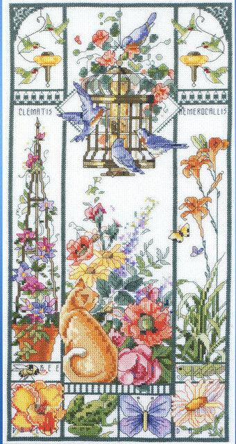 Summer Cat Sampler - Cross Stitch Pattern